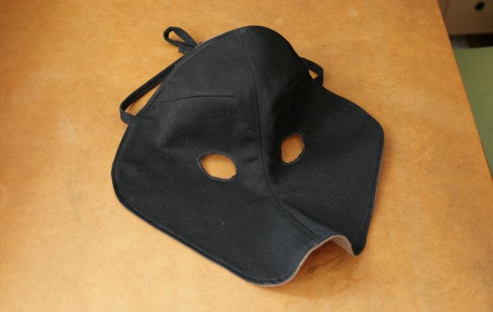 Masque de loup en tissus samuel dellicour - Masque de loup a fabriquer ...