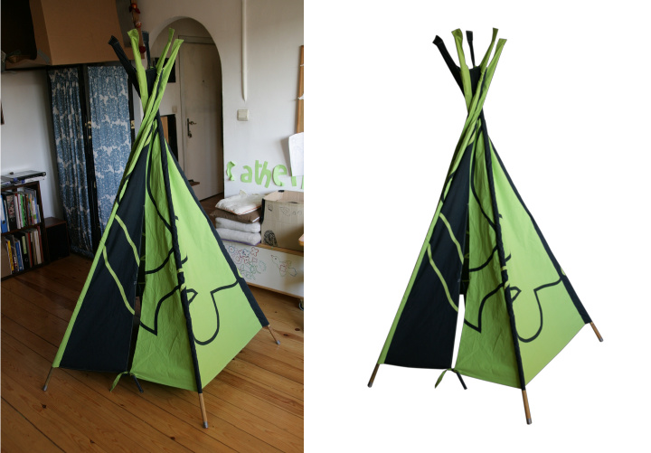 tente tipi pour enfant samuel dellicour. Black Bedroom Furniture Sets. Home Design Ideas